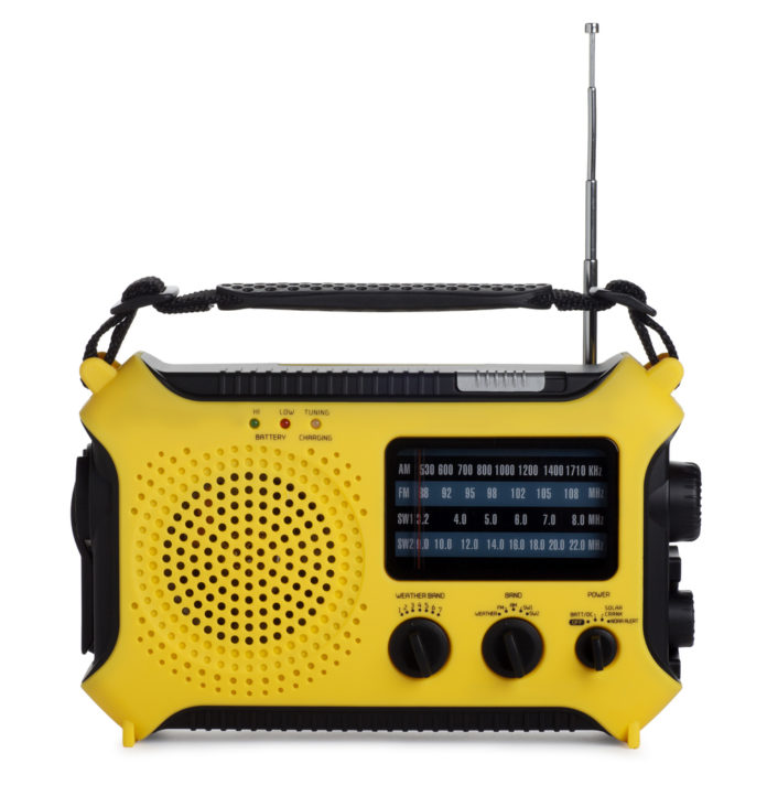 This is a photo of an emergency radio isolated on a white background. There is a clipping path included with this file.Click on the links below to view lightboxes.