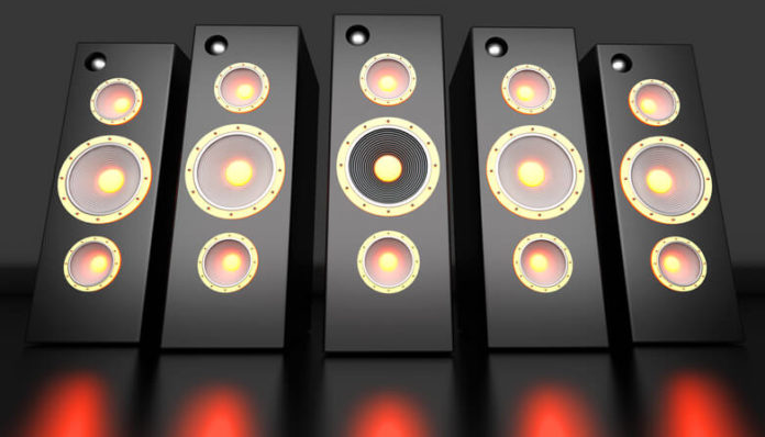 This is an image of tower speakers